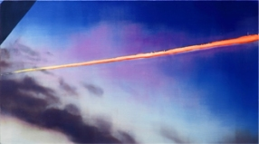 Contrail, 2012, oil on linen, 45cm x 80cm