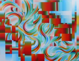 Isomer, 2008 , oil on canvas, 160cm x 210cm