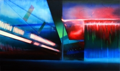 Living Dead, 2012, oil on linen, 75cm x 125cm